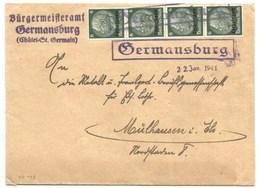 SK499 - GERMANSBURG - 22 Jan 1941 - CHATEL SAINT GERMAIN - Moselle - - Postmark Collection (Covers)