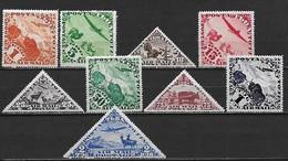 TOUVA (TUVA) 1934 - Poste Aérienne Faune  - YT AE 1 à 8  + 9A (SG 51-58 + 59a)  ** Cote YT: 56 Eur ; SG : 28 £ (MNH) - Touva