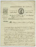Révolution Française . LS 1800 Signée Antoine Rabusson-Lamothe Premier Préfet De Haute-Loire . Guerres De Vendée . - Autógrafos