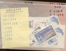 Tous De 1986. Année Incomplète. Faciale 12,60 $ Net 8,-$ Soit Euros.   (avec Deux Carnets) - Ongebruikt