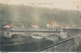 54) BRIEY : La Gare Et Le Pont D'Arcole (colorisée) - Briey