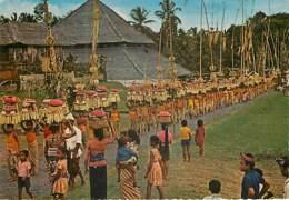 BALI - The Festival Procession To The Temple - Indonesia
