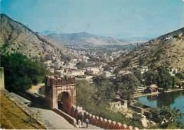 JAIPUR - Amber Township And Lake Viewed From Amber Palace - India