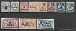 PORT-SAID 1924 Timbres De 1902-1920 Surchargés  YT 69 à 79  ** (MNH) Cote YT: 26 Eur - Port-Saïd (1899-1931)