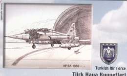 TURKEY - NF-5A 1989- (Aircraft) , Tirage 220,000 , 100 Unit ,used - Turquie