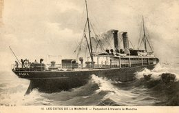 Un Paquebot A Travers La Manche - Sailing Vessels