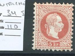 AUTRICHE : N°34 I.  Cote 110 €. - 1850-1918 Empire