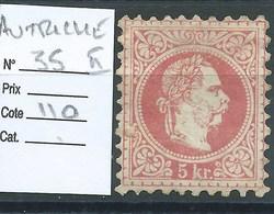 AUTRICHE : N°35 II.  Cote 110 €. Sans Gomme. - Unused Stamps
