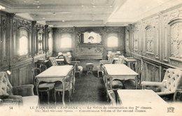 Paquebot  ESPAGNE   Salon 2eme Classe - Steamers