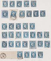 N°60 Collection De 34 Timbres Cachets Convoyeur, Cachets Ambulant, Losanges Ambulant, TB Et Pas Courant. - 1871-1875 Cérès