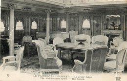 Paquebot  ESPAGNE   Le Grand Salon - Steamers