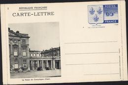 Entier Carte Lettre 7 Le Palais De Compiègne Oise 65c Armoiries Ile De France Storch N3b Neuve Cote 25 Euros - Letter Cards