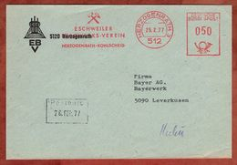 Brief, Absenderfreistempel, Eschweiler Bergwerks-Verein, 50 Pfg, Herzogenrath 1977 (82913) - BRD