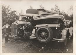 Photo Originale Voitures Anciennes Accident - Auto's