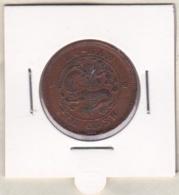Chine Hunan Province. 10 Cash ND (1902 - 1905) Cuivre. Y # 112. Frappe Décalé - China