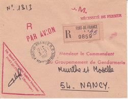 Le Général Commandant Interarmées ,recommandé De Fort De France ,1967 - Martinique (1886-1947)