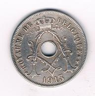 25 CENTIMES 1913 FR  BELGIE /9162/ - 1909-1934: Albert I