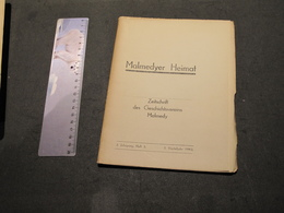 MALMEDYER HEIMAT - ZEITSCHRIFT DES GESCHTSVEREINS MALMEDY - 2.JAHRGANG 3. - 3. VIERTELJAHR 1943 - Ohne Zuordnung