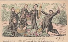 CPA Grivoise Caricature Satirique Anti-Cléricalisme Cureton En Goguette Déjeuner Sur L' Herbe Illustrateur LAVRATE - Religions & Beliefs