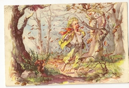 """S7926 - Joueur De Flûte Dans La Forêt  """"au Verso Publicité Chocolat Martougin"""" - Autres Illustrateurs"""