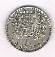 1 ESCUDO 1962 PORTUGAL /9166/ - Portugal