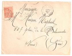 LE FAYET à ANNEMASSE Lettre Convoyeur Type 2 Ob 30/9/ 1902 15 C Mouchon Yv 117 - Railway Post