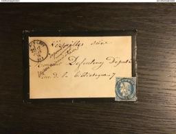 N°60 Cachet T.16 LURCY-LEVY (3) / Lettre (06/1876). ALLIER. TTB - Storia Postale