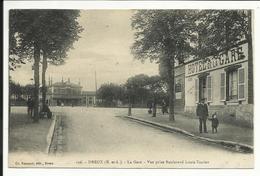 * DREUX , La Gare , Vue Prise Boulevard Louis Terrier , 1923 , CPA ANIMEE - Dreux