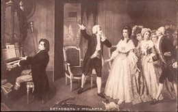 MOZART  Composer  Beethoven Away  Old Postcard - Muziek En Musicus