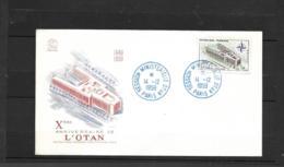 1228 FDC 1959   Y & T  Le Palais De L'O.T.A.N Oblitération 14-12-1959   *FRANCE*  516a - FDC