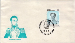 Peru Stamp On FDC - Pérou