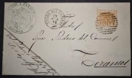 ANNULLI NUMERALI ABRUZZO: NUMERALE TORRE DEI PASSERI Teramo Da Castiglione A Casauria - 1861-78 Vittorio Emanuele II