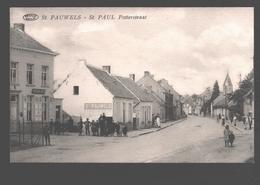 Sint Pauwels / St. Pauwels / St. Paul - Potterstraat - Zeer Geanimeerd - Uitg. Ch. De Potter - Postkantoor - Sint-Gillis-Waas