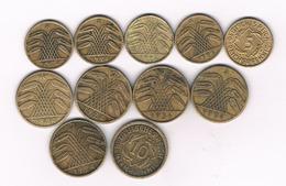 5+10 PFENNIG LOT WEIMAR REPUBLIEK  DUITSLAND /9178// - [ 3] 1918-1933 : Republique De Weimar