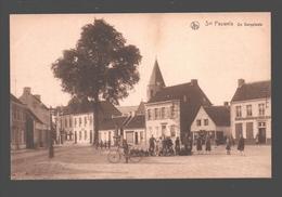Sint Pauwels / Snt Pauwels - De Dorpplaats - Zeer Geanimeerd - Uitg. Emile Beernaert, Lokeren - Café In Hemelryk - Sint-Gillis-Waas
