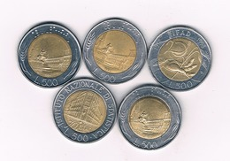 500 LIRE 5X  ITALIE /9180/ - 500 Lire