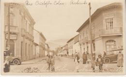 Ecuador - Riobamba - Rue Christoiphe Colon - Animated - Old Timers - Photocard - Ecuador