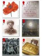 2014 Great Britan UK - World War I - Set Of 6 V -  MNH** MI 3628 -3633 - Ungebraucht