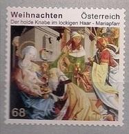 2016 Austria Mi. 3305**MNH  Mit Nr. 30  Weihnachten  Der Holde Knabe Im Lockigen Haar; Altarbild - 2011-... Unused Stamps