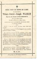 Souvenir Mortuaire FLORIN Victor (1848-1893) Mort à PECQ - Images Religieuses