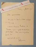 L.A.S 1916 André SPIRE - Nancy - Ecrivainpoète& Militantsioniste -  Billet Lettre Autographe Ww1 - Autographes