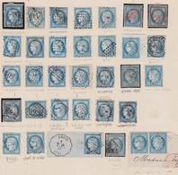 N°60 Rare Ensemble De 33 Timbres, Avec Oblitérations Très Intéressantes Et Rares, TB, Voir Détail Dans Le Texte - 1871-1875 Cérès