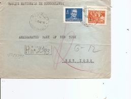 Yougoslavie ( Lettre Recommandée De 1946 De Beograd Vers Les USA à Voir) - 1945-1992 Socialistische Federale Republiek Joegoslavië