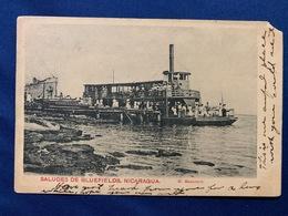 Postcard  Circulated Bluefields 1909 With  Overprint Local Stamps ( B Dpto. Zelaya ) - Nicaragua