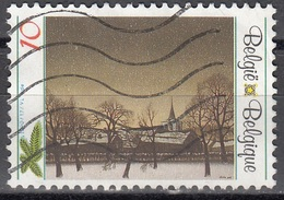 Belgique 1990 COB 2392 O Cote (2016) 0.30 Euro Noël Paysage Hivernal De Jozef Lucas - Belgique