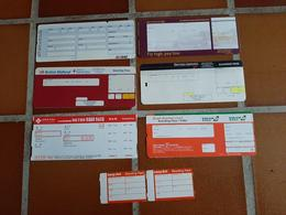 @+  Lot De 7 Cartes D'embarquement Non Utilisées (Easy Jet, EvaAir, British Midland, Germanwings,...). - Instapkaart
