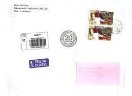 Slovakia R Cover Smizany With Jubilee Cancelation ... Ax579 - Slowakische Republik