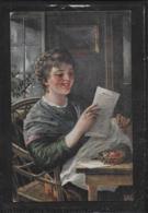 AK 0379  Brief Vom Schatz - Bahnpost Von Tulln Nach Wien Um 1917 - Malerei & Gemälde