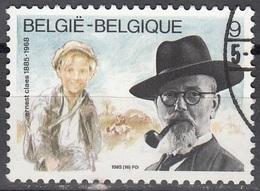 Belgique 1985 COB 2191 O Cote (2016) 0.30 Euro Ecrivain Ernest Claes Et De Witte Cachet Rond - Belgique