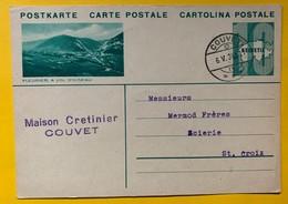 9601 - Entier Postal Illustration Fleurier A Vol D'oiseau Couvet 6.05.1934 - Interi Postali
